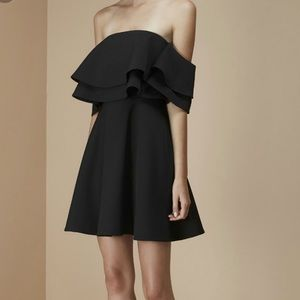 NWT Keepsake Black Two Fold Ruffle Party Dress M